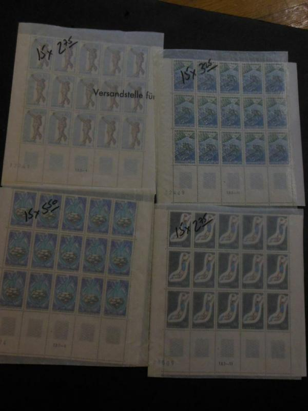 FRENCH ANDORRA : Very clean grouping of all VF MNH Cplt sets. Scott Cat $2,378.