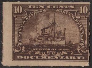 R168 10¢ Documentary Stamp (1898) MNH