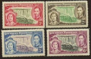 Southern Rhodesia, Sc# 38 - 41, MNH.  2017 SCV $7.00