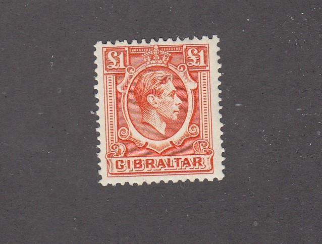 GIBRALTA # 118 VF-MLH KGV1 ONE POUND