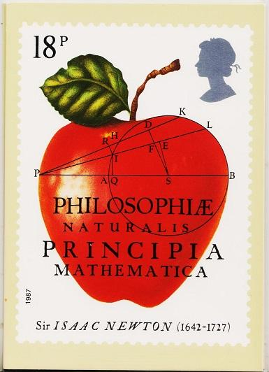 Great Britain. 1987 Isaac Newton. PHQ Cards(4) Unused