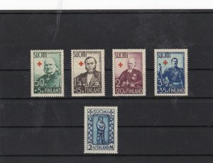 finland 1938 red cross mounted mint  stamps  ref 7431
