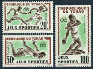 Chad 83-84,C8,MNH.Michel 89-91. Abidjan Games  1962.Relay race,High jump,Discus.