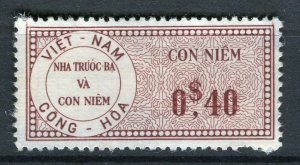 VIETNAM; Early CONG-HOA revenue issue Mint unused 40c. value ( paper adhesion)