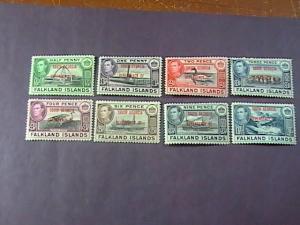 FALKLAND ISLANDS/SOUTH GEORGIA # 3L1--3L8 -MINT/HINGED--COMPLETE SET--KGVI--1944