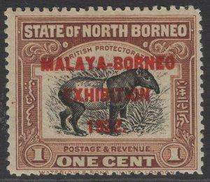 NORTH BORNEO SG253 1922 1c BROWN MTD MINT