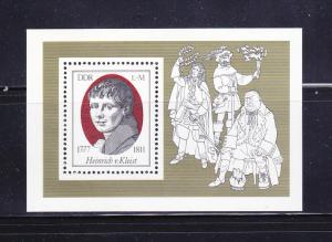 Germany DDR 1855 Set MNH Heinrich Von Kleist, Writer
