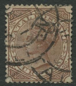 NATAL - Scott 71 - QV Definitive - 1882 - Used - 6p Stamp