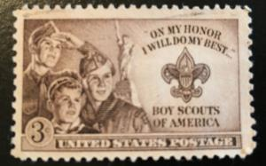 995 Boy Scouts, Circulated single, NH, Vic's Stamp Stash