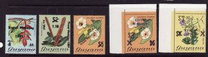 Guyana-Sc#331-3,334a,335a-unused NH set-Royal Wedding 1981 overprinted-