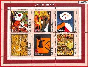 A0784 - GUINEA-BISSAU - ERROR  MISSPERF SHEET - ART Painters: Joan Miró 2001