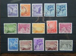 Seychelles 1954 - 1961 to 1r Used