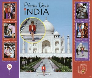 Liberia 2011 MNH Princess Diana in India Indipex 6v M/S Royalty Stamps