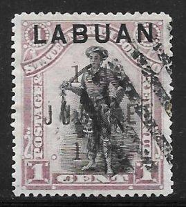 Labuan 66: 1c Jubilee Overprint, used, F-VF