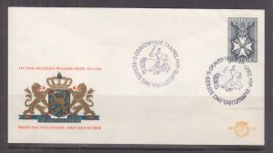 NETHERLANDS, 1965 Medal of Knight 1g. on First Day cover.