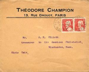 France 75c Jacques Callot (2) 1935 Paris 54, R. De Provence to Winchendon, Ma...