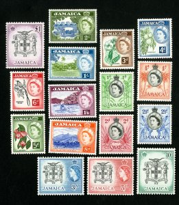 Jamaica Stamps # 159-74 XF OG Nh