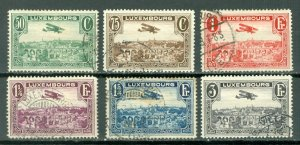 LUXEMBOURG AIR #C1-C6..SET...USED...$13.10