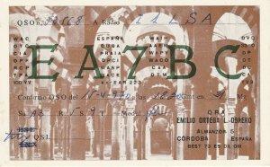 8698 Amateur Radio QSL Card  CORDOBA ESPANA
