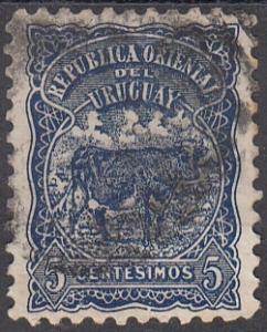 Uruguay, Scott 170 (2), Used, 1906, Cattle