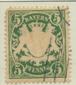 Bavaria (German State) Stamp Scott #62, Used, Corner Pull - Free U.S. Shippin...