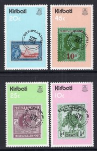 Kiribati 341-344 Stamp on Stamp MNH VF
