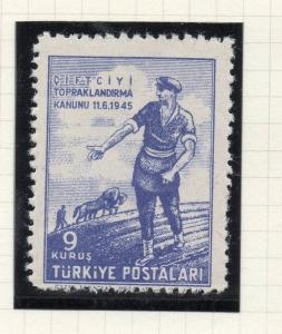 Turkey 1946 Early Issue Fine Mint Hinged 9k. NW-05205