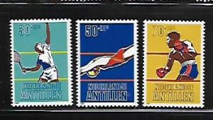 NETHERLANDS ANTILLES, B186-B188, MINT HINGED, SPORTS