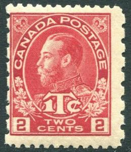CANADA-1916 2c & 1c Carmine-Red Die I Sg 235 LIGHTLY MOUNTED MINT V28957