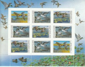 Stamp Russia USSR SC 5906-8 1990 Ducks Conservation MNH