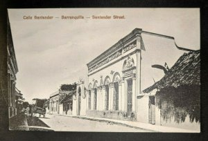 Vintage Stander Street Barranquilla Columbia England Real Picture Postcard Cover