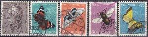 Switzerland #B196-200  F-VF Used  CV $20.90  (Z6084)