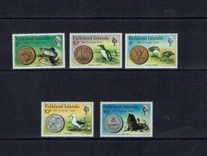 Falkland Islands: 1975 New Decimal Coinage Mint set