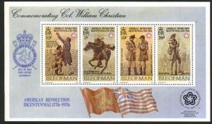 Isle of Man Interphil76 US Bicentennial sheet Scott 81a