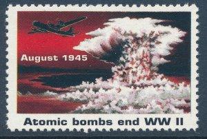 Stamp Label US Reprint 1995 WWII Hiroshima Japan Enola Gay Atomic Bomb MNH