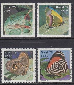 Brazil 1620-3 Moths  mnh
