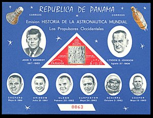 Panama 459Gh, MNH imperf., J.F. Kennedy and Space Travel souvenir sheet