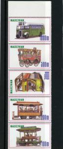 Naxcivan Republic 1997 Buses Strip (5) Perforated mnh.vf