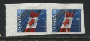 Canada 46 cent Flag imperf vertical pair mint o.g.