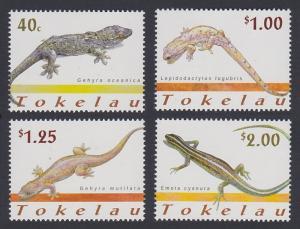 Tokelau Lizards 4v SG#314-317