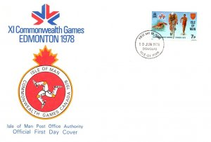 Isle of Man, Worldwide First Day Cover, Sports