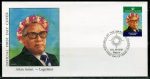 MARSHALL ISLANDS 2001 ATLAN ANIEN LEGISLATOR FIRST DAY COVER