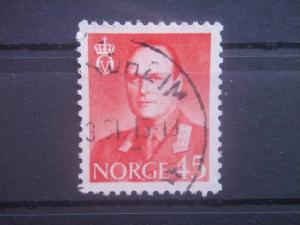 NORWAY, 1959, used 45o King Olav, Scott 363