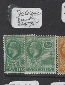 ANTIGUA    (P3003B)   KGV  1/2D     SG 62 X 2 SHADES   MOG