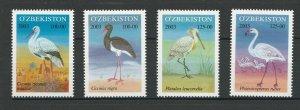 Uzbekistan 2003 Birds 4 MNH stamps