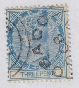 TOBAGO 2 1879  USED NO FAULTS VERY FINE!