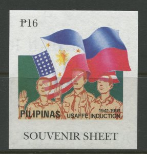 STAMP STATION PERTH Philippines #2100 USAFFE Souvenir Sheet MNH CV$8.00