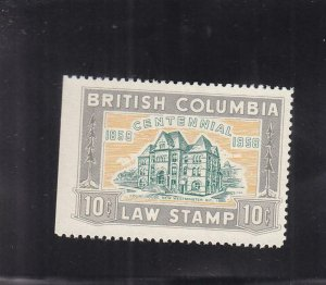 Canada: British Columbia: Law Tax Stamp, Van Damme #BCL46, Used (37024)