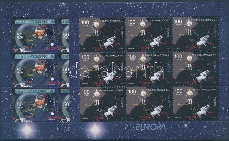 Makedonien stamp Europa CEPT minisheet set MNH 2009 Mi 502-503 WS151394