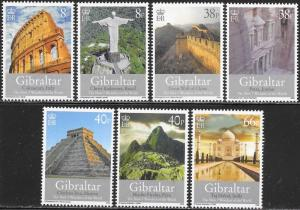 Gibraltar 1146-1152 MNH - New Seven Wonders of the World